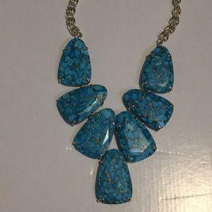 Kendra Scott Harlow necklace bronze veined turq